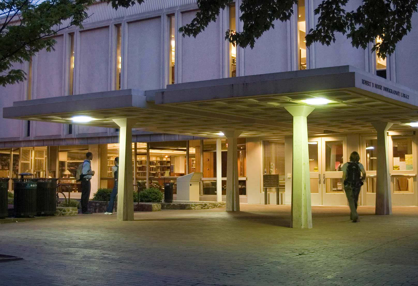 Undergraduate Library at night