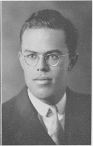 W.T. Minor in 1934 from Yackety Yack yearbook