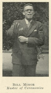 WT Minor in 1933 from Yackety Yack yearbook