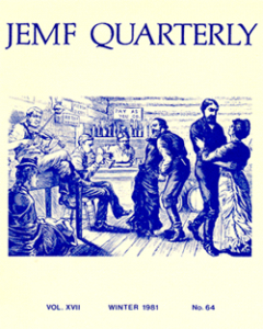 JEMF Quarterly. Vol. 17. Winter 1981. No 64