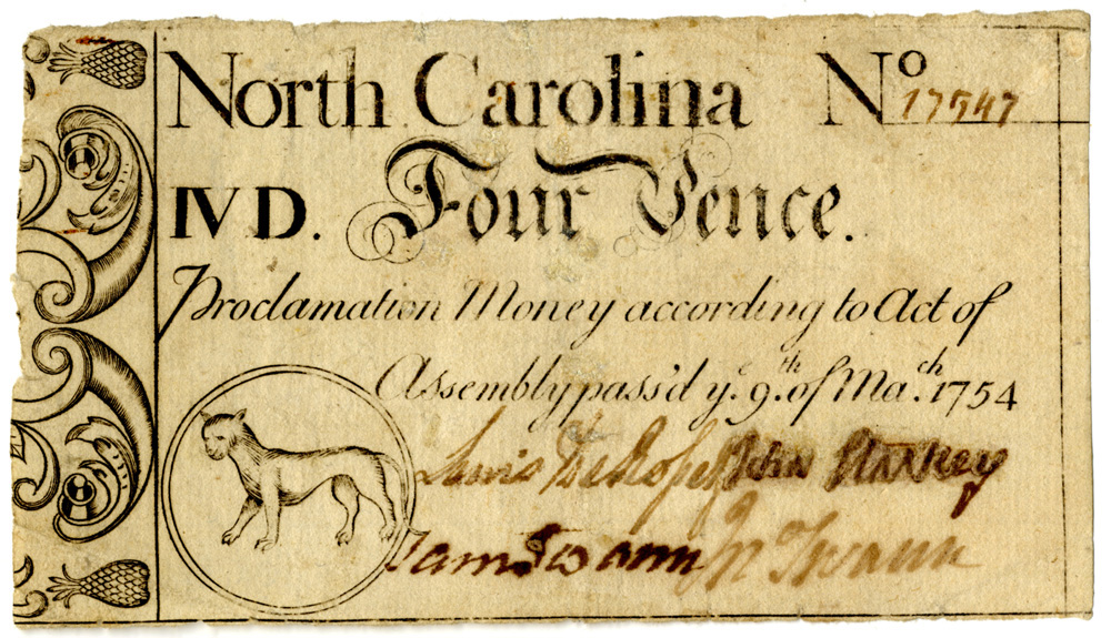 four-pence note