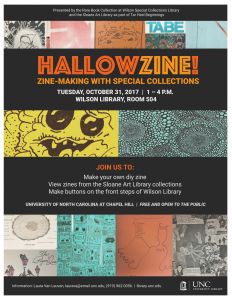 Hallowzine event flier