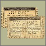 Old north carolina 5 and 10 dollar bills