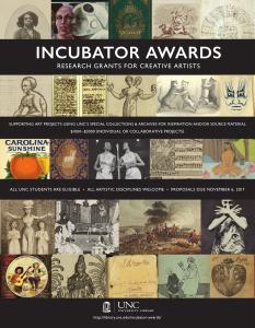 Incubator Awards Poster