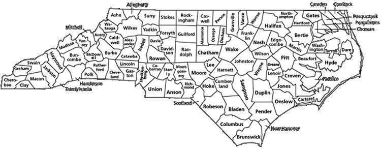 tar heel nc map Talk Like A Tar Heel Unc Chapel Hill Libraries
