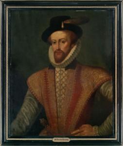 Portrait of Sir Walter Raleigh, oil on board, circa 1590