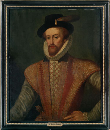 Portrait of Sir Walter Raleigh, oil on board, circa 1590