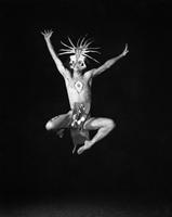 "Dancer, ""Unto These Hills"" dancer, photograph by Hugh Morton."