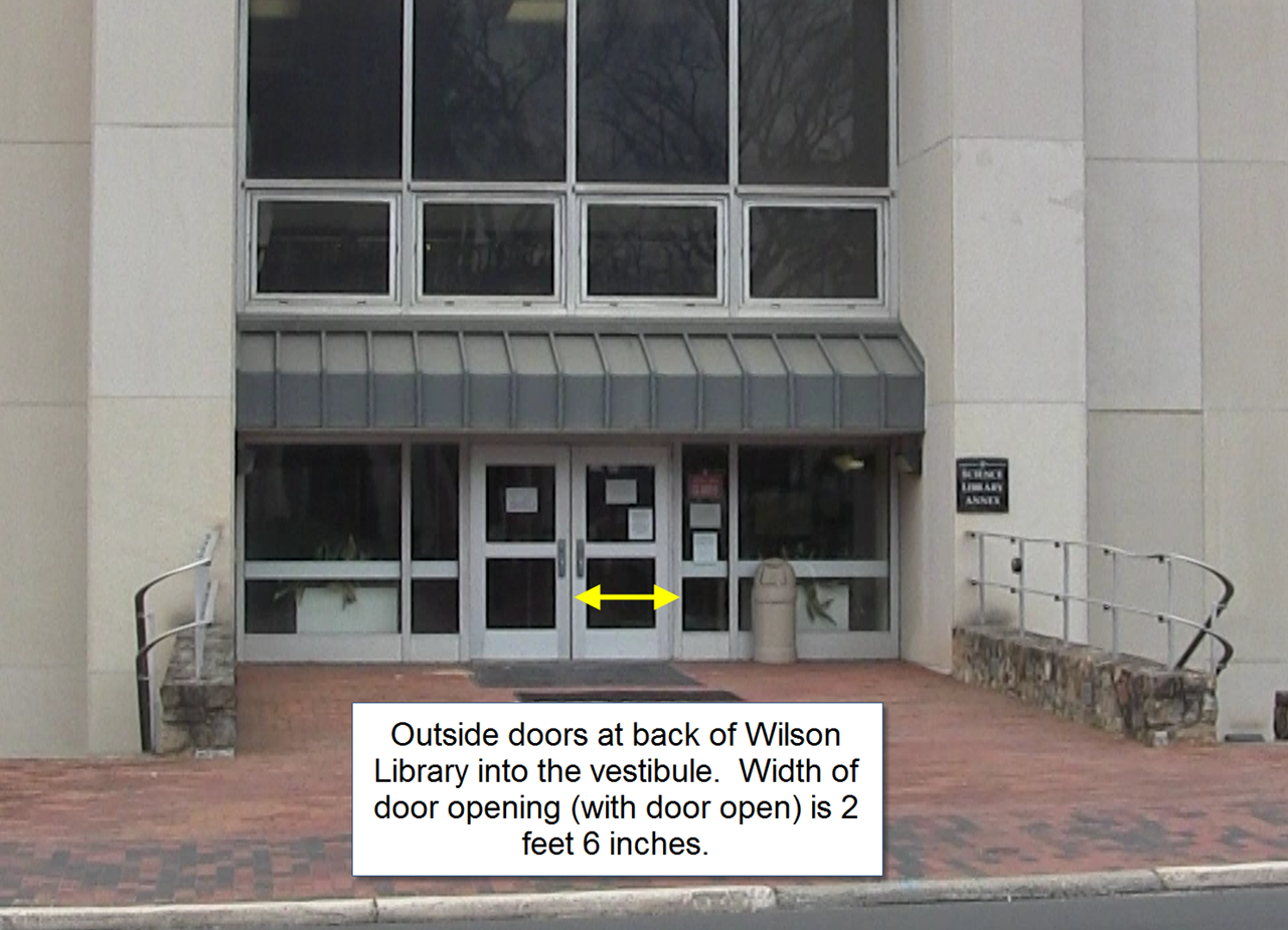 Outside Doors to Wilson Annex. Picture 14 & Diba Collection Move \u2013 UNC Chapel Hill Libraries