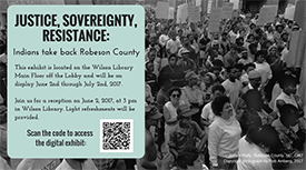 Flyer for Justice, Sovereignty, Resistance event