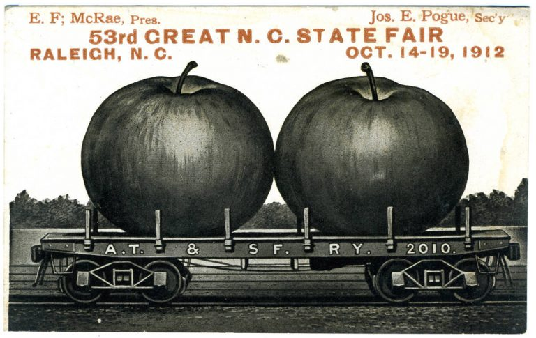 Postcard advertising the 53rd North Carolina State Fair in 1912.