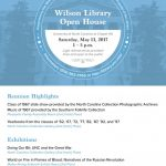 Flier for Wilson Library Open House