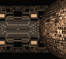 stylized computer circuitry