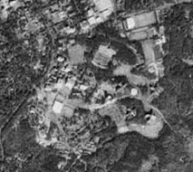 black and white aerial photograph
