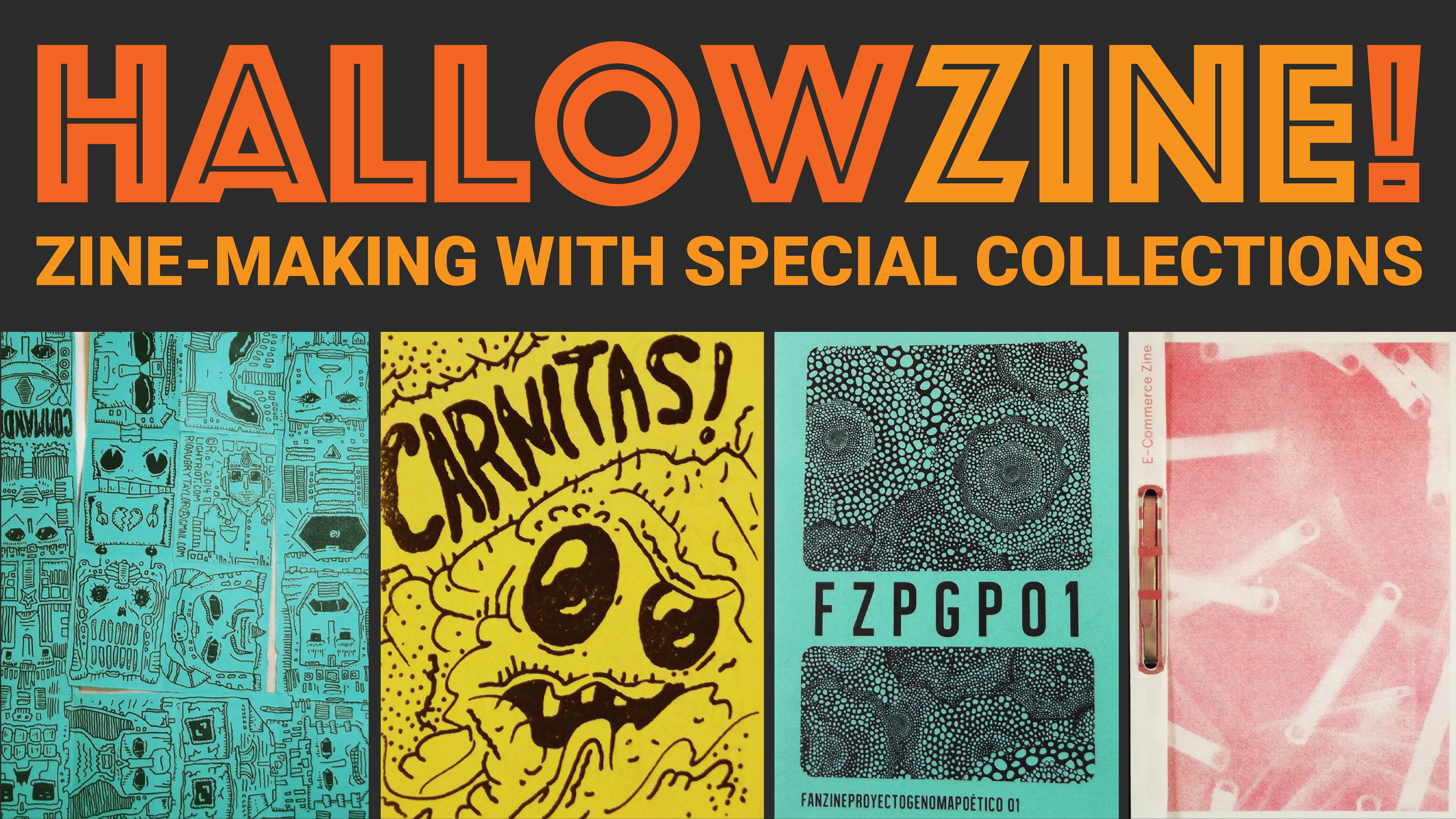 Hallowzine! Make a Zine, Make Button.