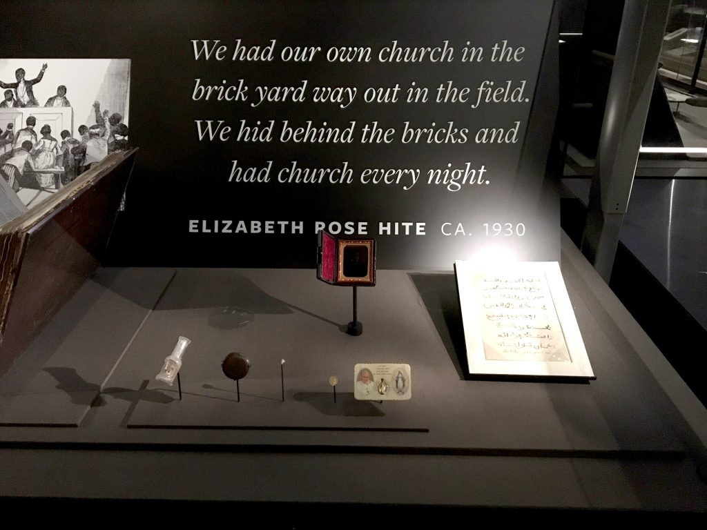 photo of exhibit display at the National Museum of African American History and Culture.