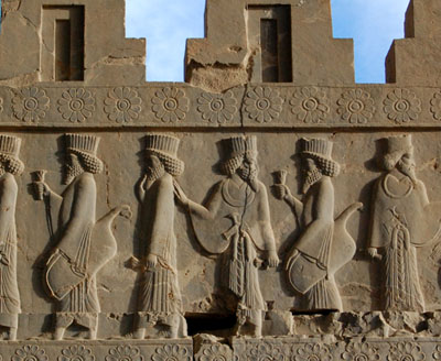 Architectural detail from Persepolis, in Fars (Pars) province