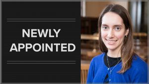Sarah Hoover newly appointed to the libraries