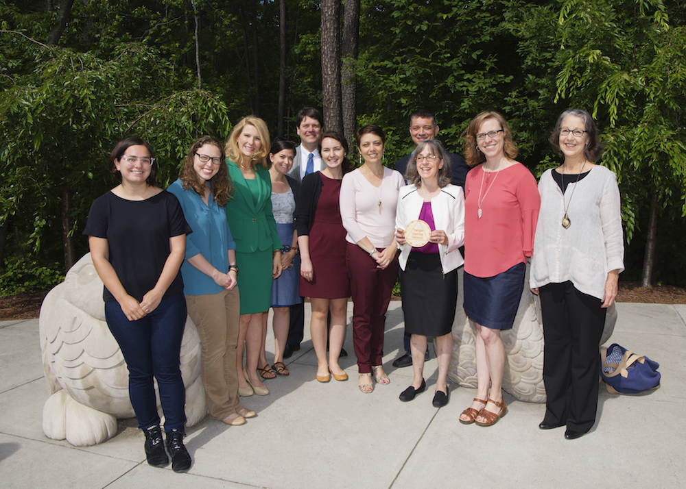 North Carolina First Lady Kristin Cooper with representatives of UNC Library and the University.