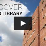 Video-still showing exterior of Davis Library building