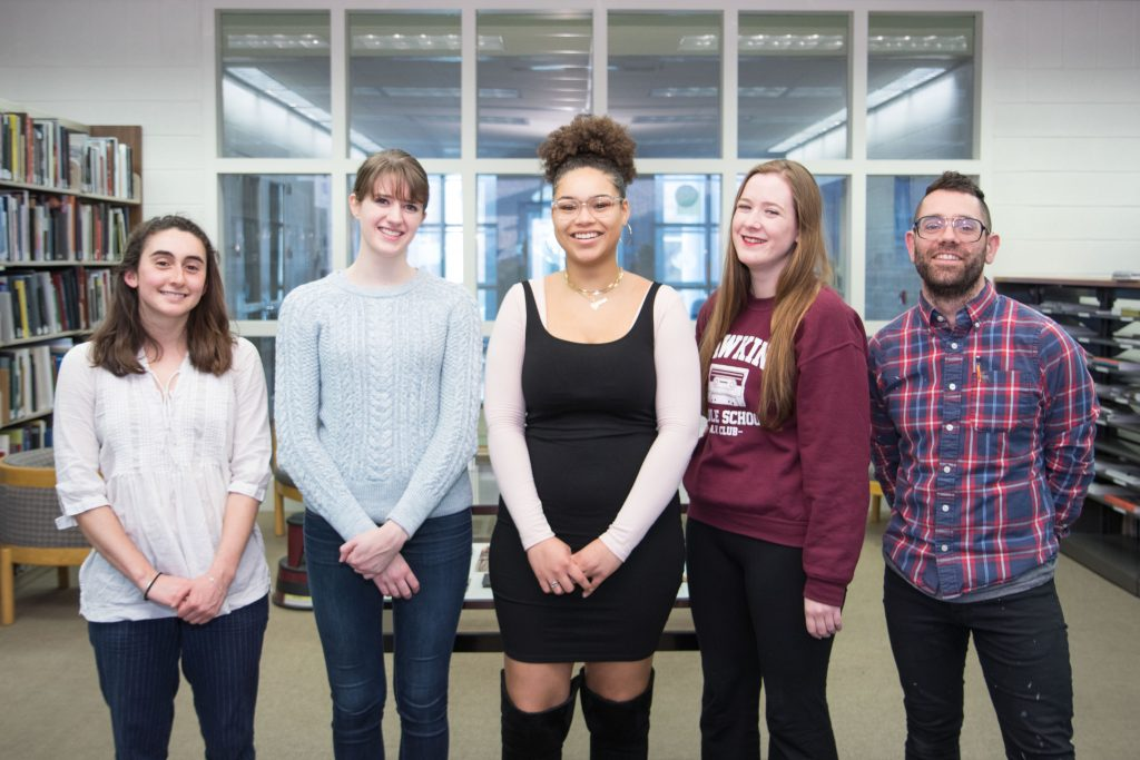 Portrait of five Incubator Awards recipients