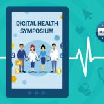 Digital health symposium flyer detail