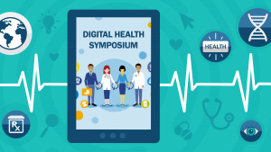 Digital health symposium flyer detail