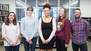 Portrait of five Incubator Award recipients