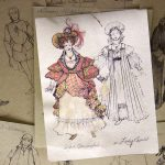 Costume sketches from exhibit