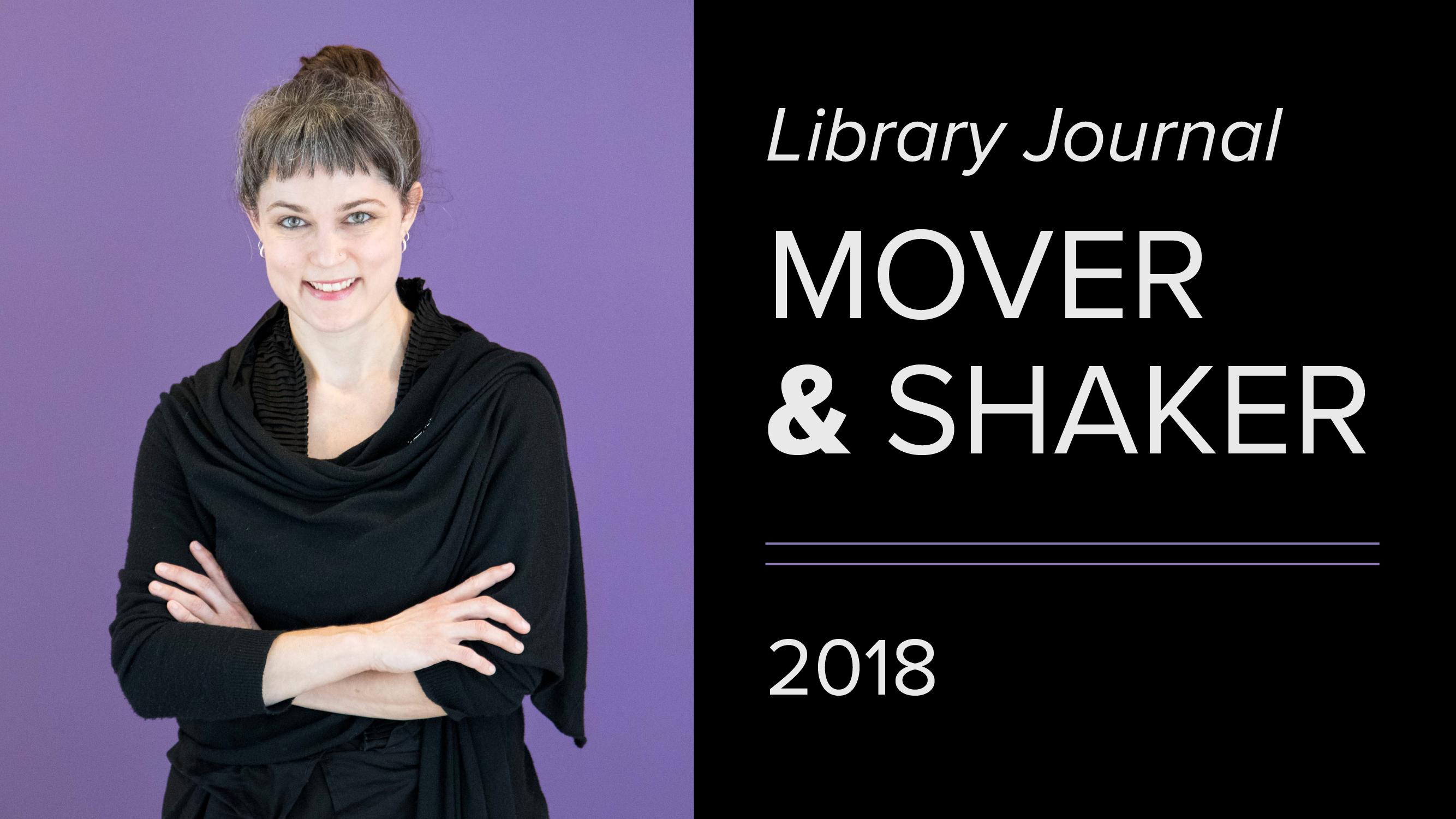 Kristina Spurgin is Library Journal Mover and Shaker 2018