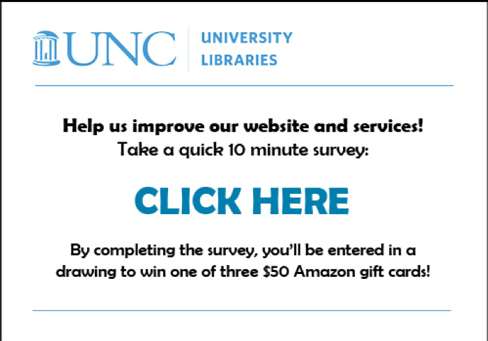 Help us improve our website and services. Take a quick 10 minute survey: CLICK HERE. By completing the survey, you'll be entered in a drawing to win one of three $50 Amazon gift cards!