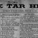 Masthead detail of first Daily Tar Heel
