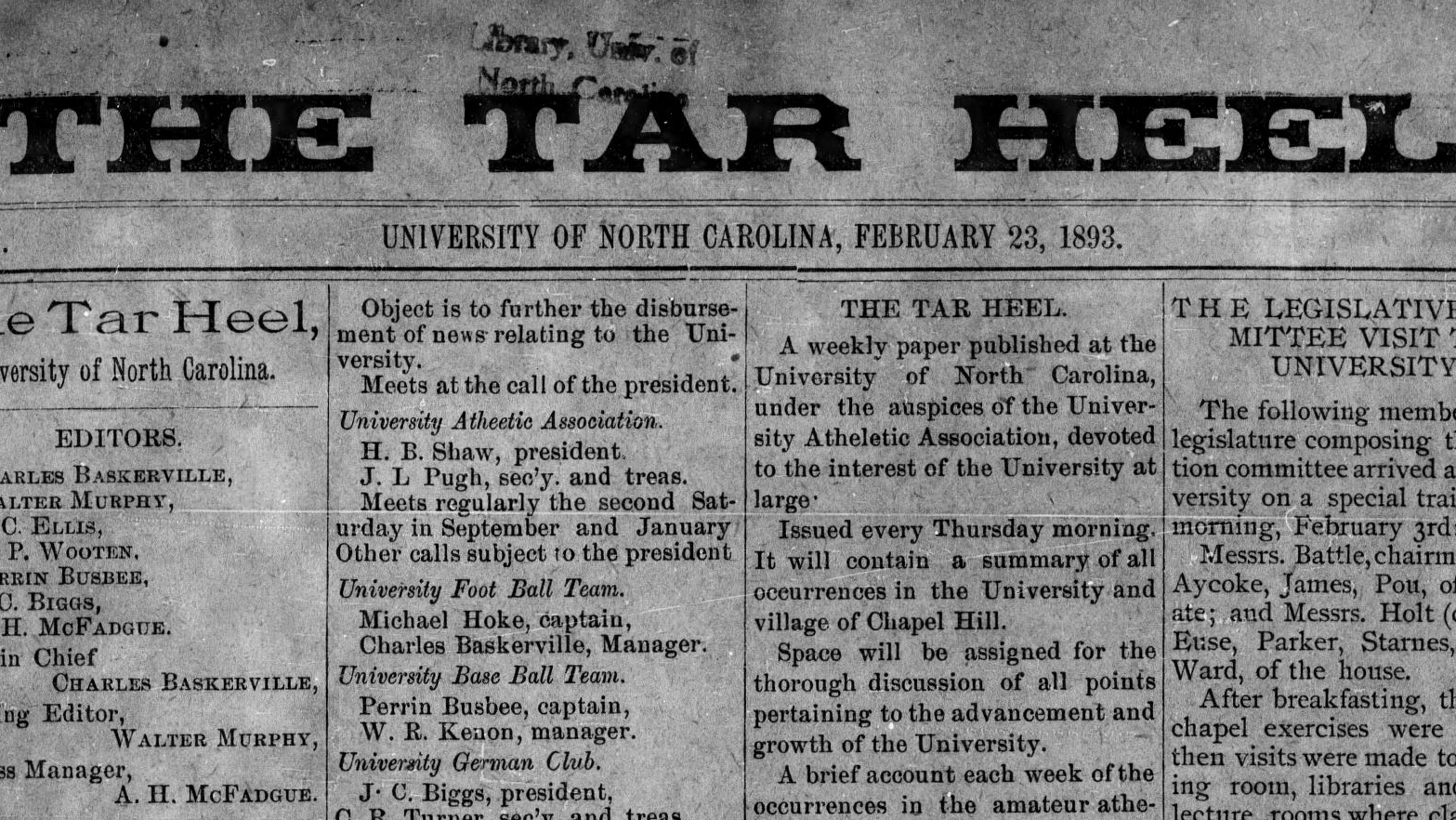 The Truth in Eight-Point Type: The Daily Tar Heel Celebrates 125 Years of Editorial Freedom