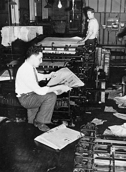 printing the paper in 1942