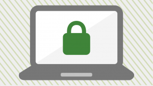 https lock icon on laptop screen