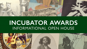Incubator Awards Open House flyer detail with archival images