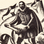 Sir Walter Raleigh drawing detail
