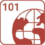 A globe with 101 in the top corner