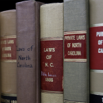 North Carolina law books on shelf