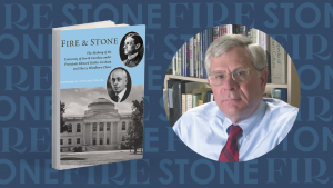 Fire and Stone book cover and author Howard E. Covington