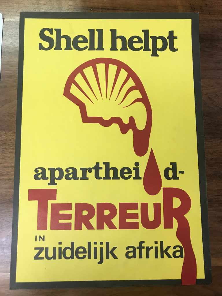 A poster written in dutch that translates to