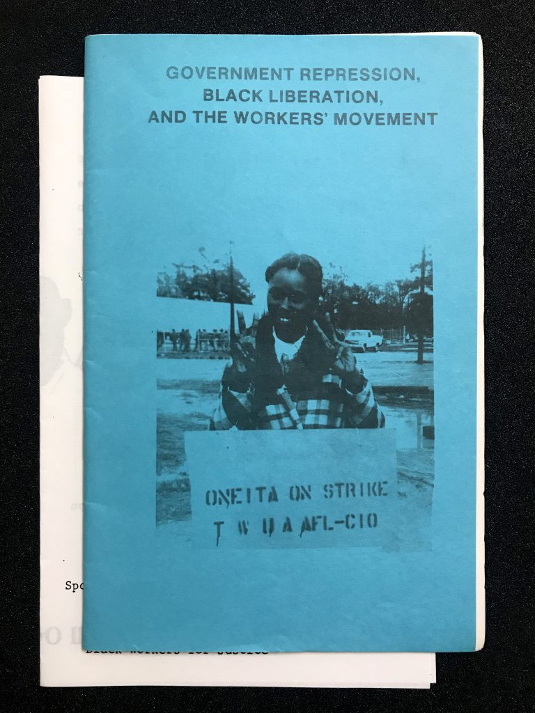 Government Repression, Black Liberation and the Workers' Movement