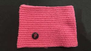 knitted pink cap