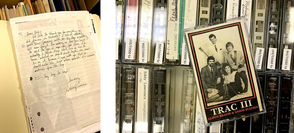 Alison Krauss letter and cassette