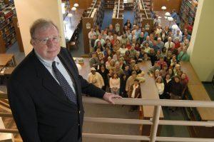 Joe Hewitt with UNC Chapel Hill Library staff