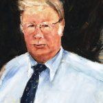 Detail of painting of Joe Hewitt