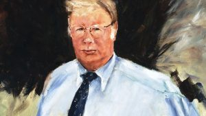 Detail of painting of Joe Hewitt