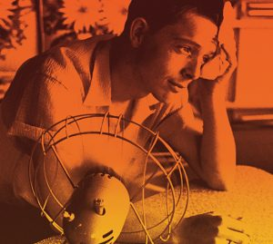 man with fan