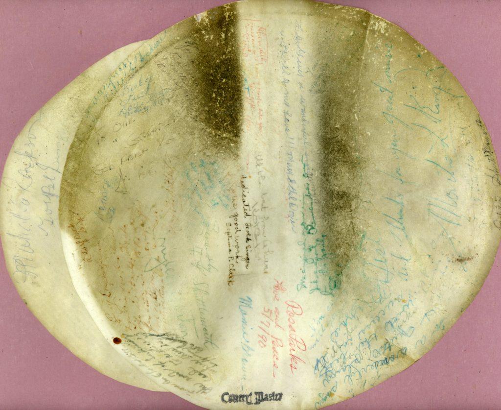 Guy Carawan's banjo head