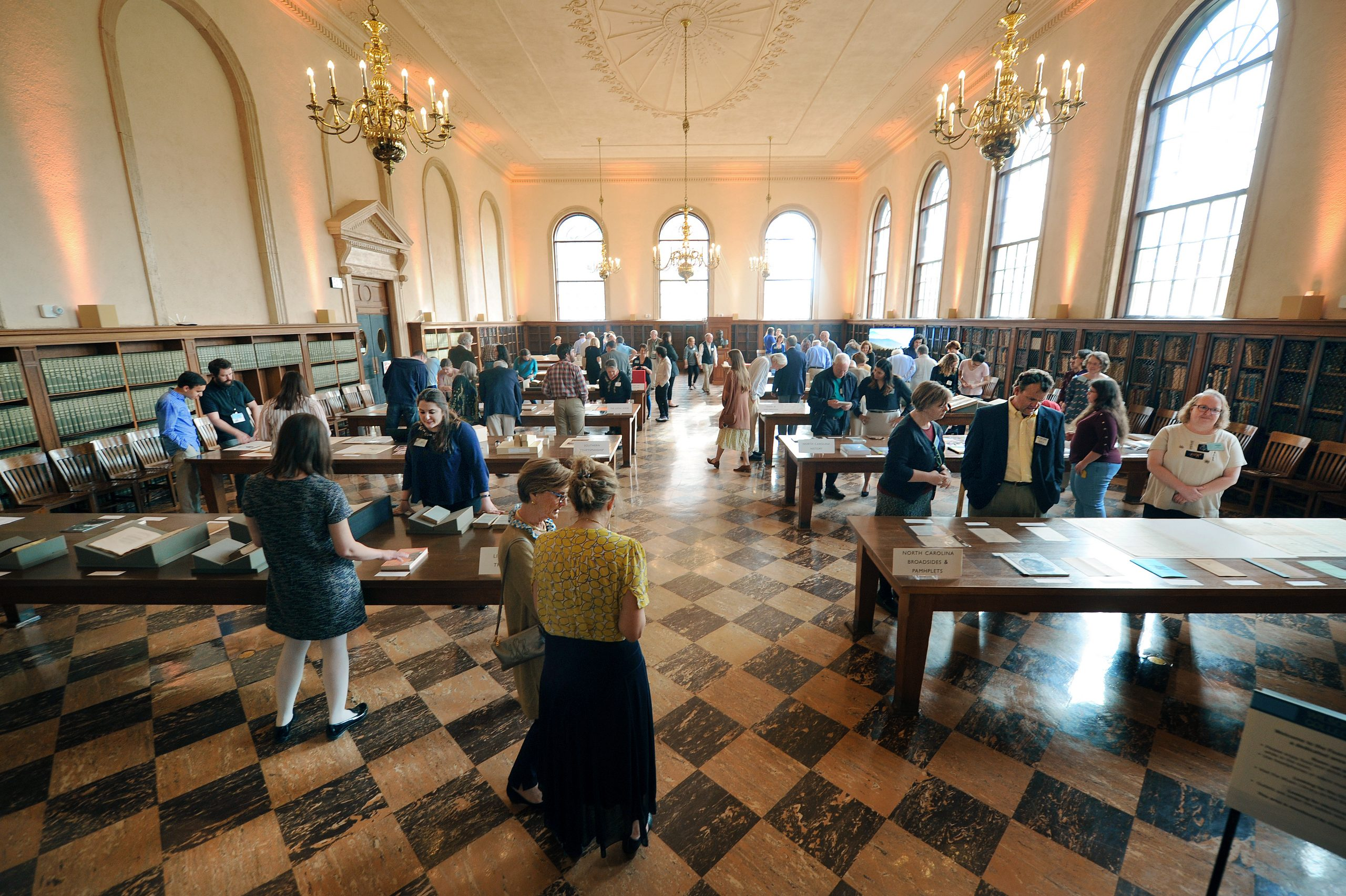 Fearrington Reading Room full of people